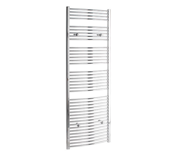Tivolis Curved 700 x 1800mm Chrome Towel Rail - CURCR70180