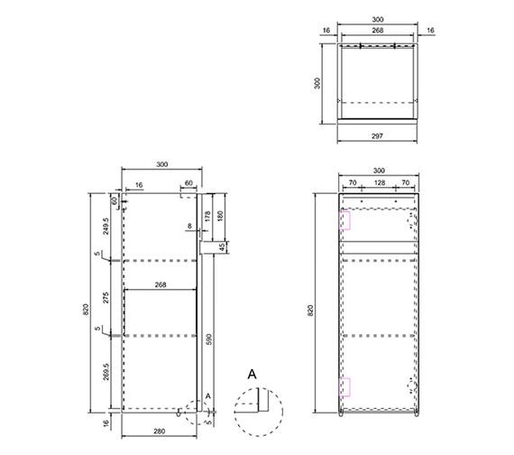 Technical drawing QS-V17472 / D31W