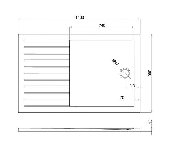 Technical drawing QS-V8030 / Z1186