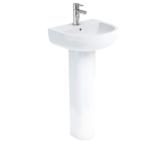 Britton Compact 450mm Wide 1 Tap Hole Basin