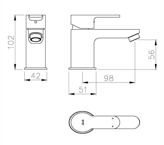 Technical drawing QS-V79754 / AB1551