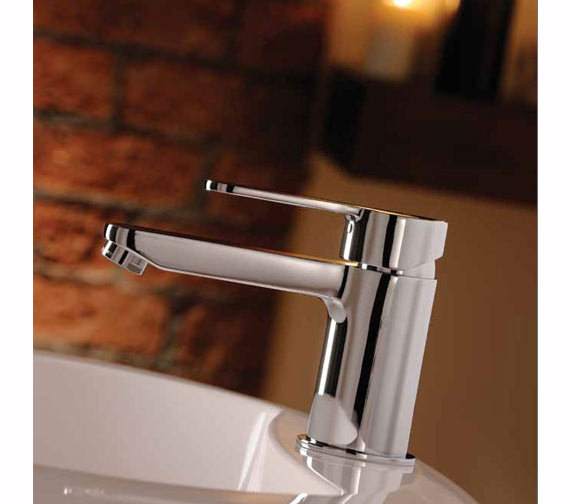 Abode Debut Monobloc Basin Mixer Tap Chrome 102mm Height