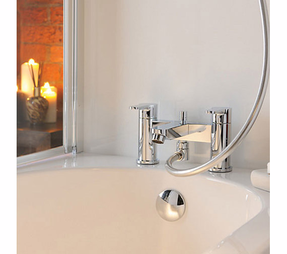 Additional image of Abode Debut Deluxe Deck Mounted Bath Shower Mixer Tap With Kit