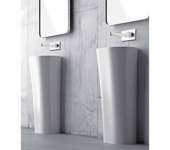 Abode Rapport Wall Mounted Basin Mixer Tap Chrome - AB1606
