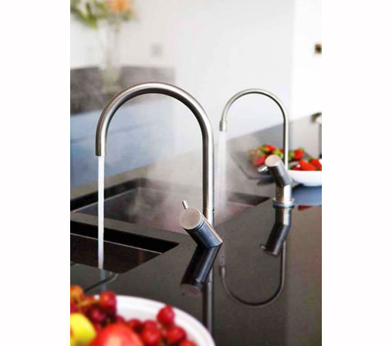 Additional image of Abode Diagon Stainless Steel Single Lever Tap - AT1105
