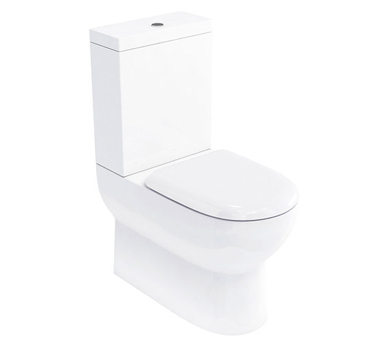 Britton Compact Close Coupled WC With Cistern And Soft-Close Seat - CM0006
