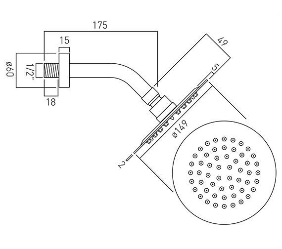 Technical drawing QS-V13064 / AQB-RO/15/SA-C/P