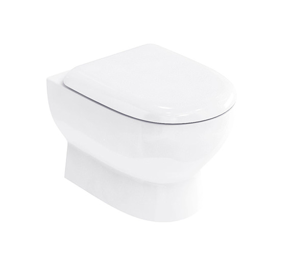 Britton Compact Wall Hung Pan With Soft Close Seat White