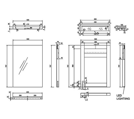 Technical drawing QS-V8070 / M10W