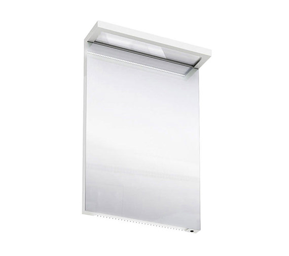 Britton aqua cabinets 500mm led mirror white m10w for Kitchen cabinets 500mm