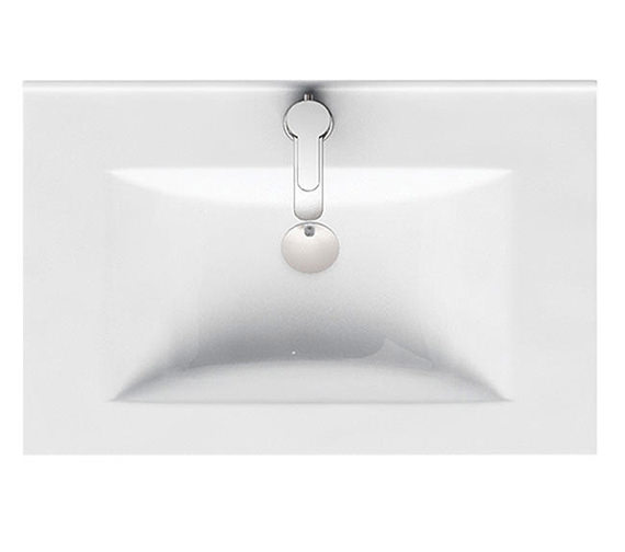 Britton Aqua Cabinets D450 600mm Wide 1 Tap Hole Ceramic Furniture Basin