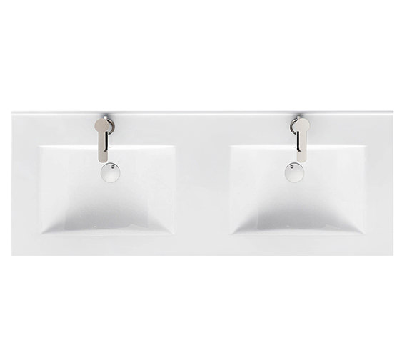 Britton Aqua Cabinets D450 1200mm Ceramic Double Bowl Furniture Basin