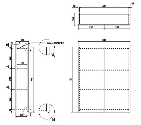 Technical drawing QS-V8078 / AC20G