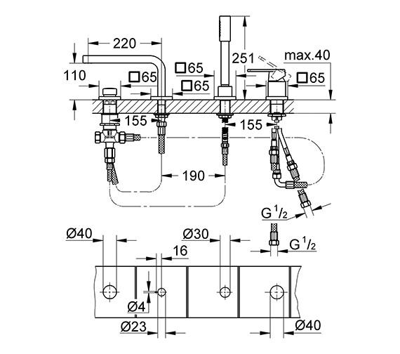 Technical drawing QS-V77896 / 19579000