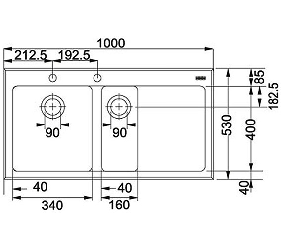Technical drawing QS-V34323 / 1010052397