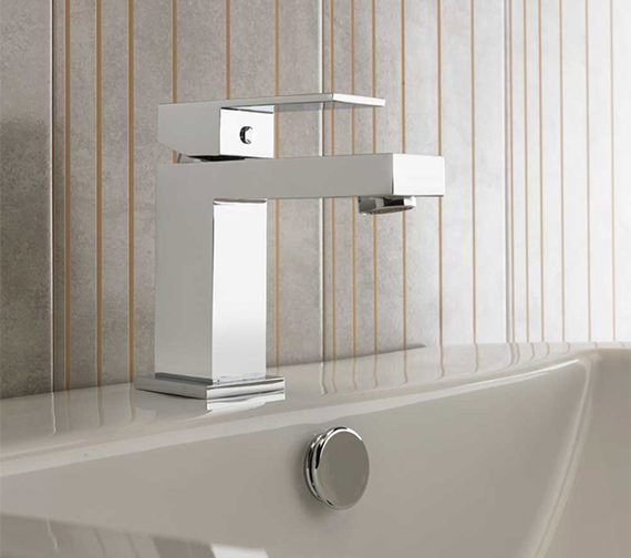Additional image of Sagittarius Blade Monobloc Basin Mixer Tap With Sprung Waste