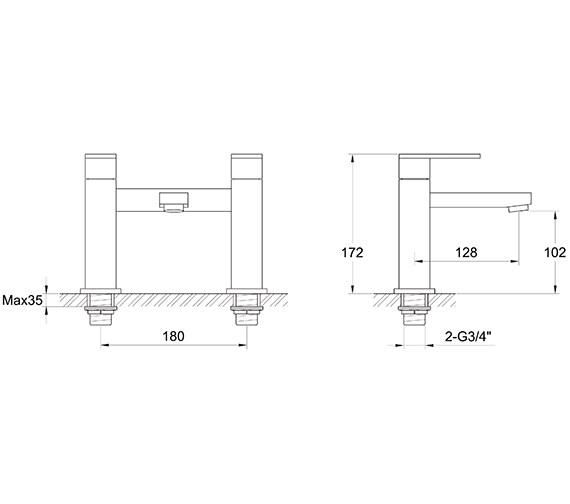 Technical drawing QS-V30222 / BL/104/C
