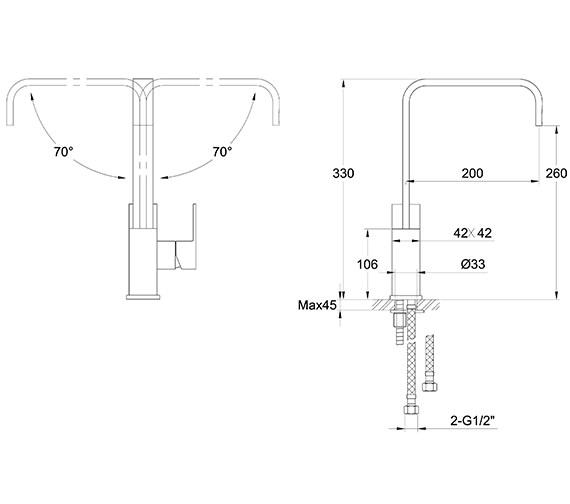 Technical drawing QS-V30236 / BL/155/C