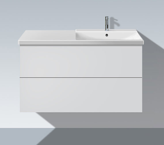 Duravit L Cube 1020mm Unit With P3 Comforts Bowl On Right Basin