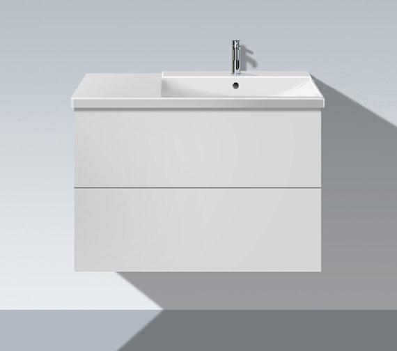 Duravit L Cube 820mm Unit With P3 Comforts Bowl On Right Basin
