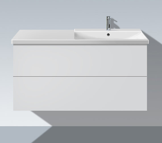 Duravit L Cube 1220mm Unit With P3 Comforts Bowl On Right Basin