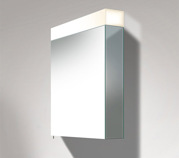 Duravit Vero 600 x 800mm Single Door Mirror Cabinet With LED Light