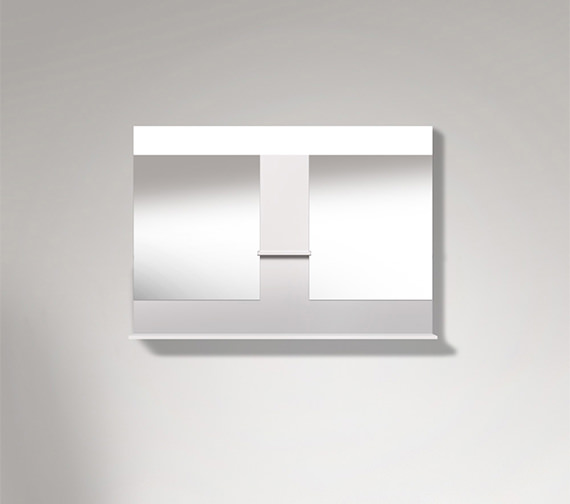 Duravit Vero 1100mm Mirror With Shelves To Center And Below