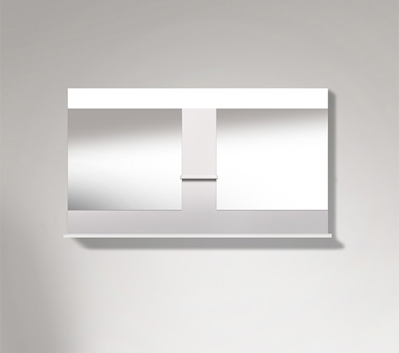 Duravit Vero 1400mm Mirror With Shelves To Center And Below