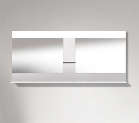 Duravit Vero 1800mm Mirror With Shelves To Center And Below