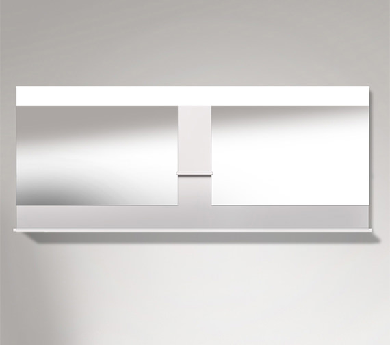 Duravit Vero 2000mm Mirror With Shelves To Center And Below