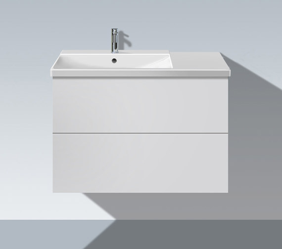 Duravit L Cube 820mm Unit With P3 Comforts Bowl On Left Basin