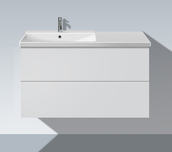 Duravit L Cube 1020mm Unit With P3 Comforts Bowl On Left Basin