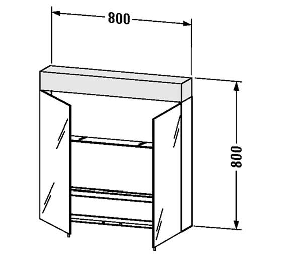 Technical drawing QS-V4395 / VE750200000