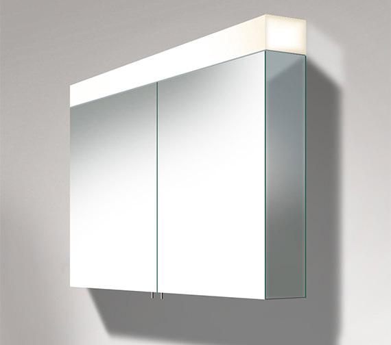 Duravit Vero 1000mm 2 Door Mirror Cabinet With LED Lighting