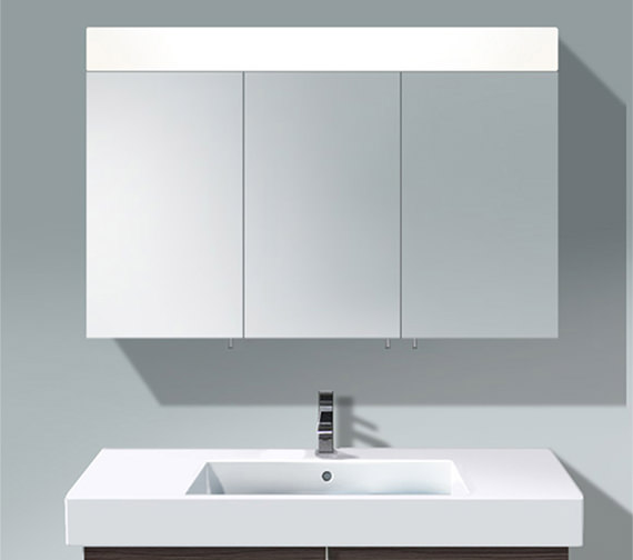 Duravit Vero 1200mm 3 Door Mirror Cabinet With LED Lighting