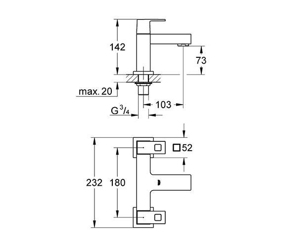 Technical drawing QS-V6409 / 25136000