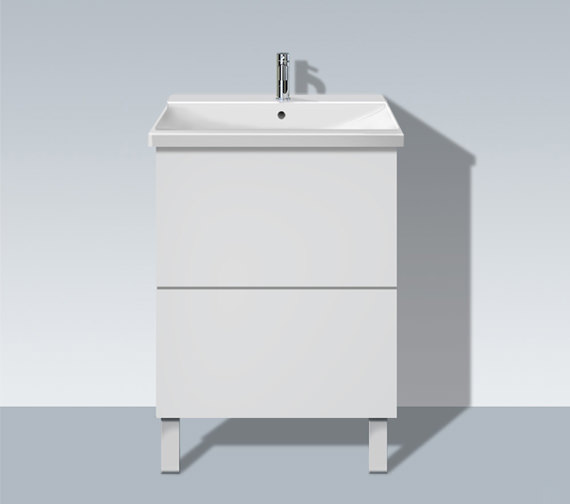 Duravit L Cube 620mm Floor Standing Unit With P3 Comforts Basin