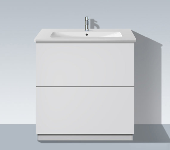 Duravit L Cube 820mm Vanity Unit With Plinth Panel And Me By Starck Basin