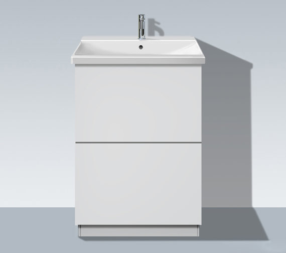 Duravit L Cube 620mm Vanity Unit With Plinth Panel And P3 Comforts Basin