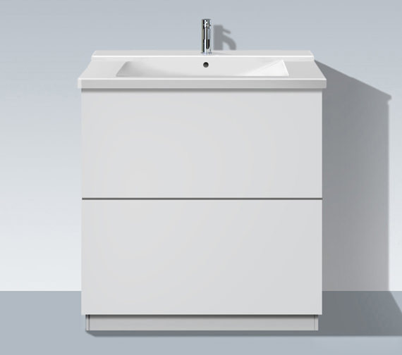 Duravit L Cube 820mm Floor Standing Unit With Plinth Panel - LC661301818
