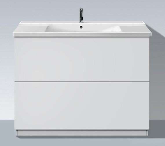 Duravit L Cube 1220mm Floor Standing Unit With Plinth Panel - LC661501818