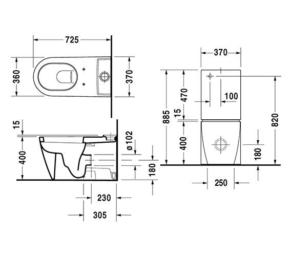 Technical drawing QS-V52847 / 2129090000