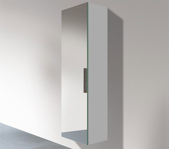 Duravit Vero 400 x 350mm Left Hand 1 Double Mirror Door Tall Cabinet