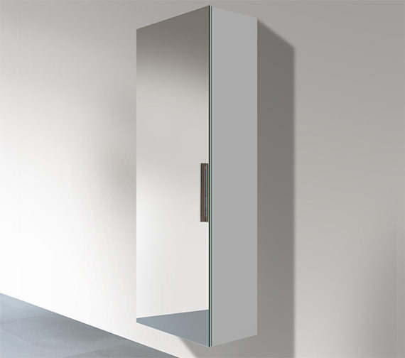 Duravit Vero 500 x 350mm Left Hand 1 Double Mirror Door Tall Cabinet