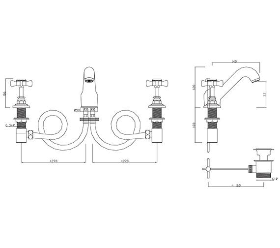 Technical drawing QS-V30266 / CH/107/C