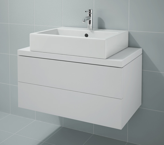 Duravit L Cube 820x477mm 2 Drawers Unit For Console - LC682201818