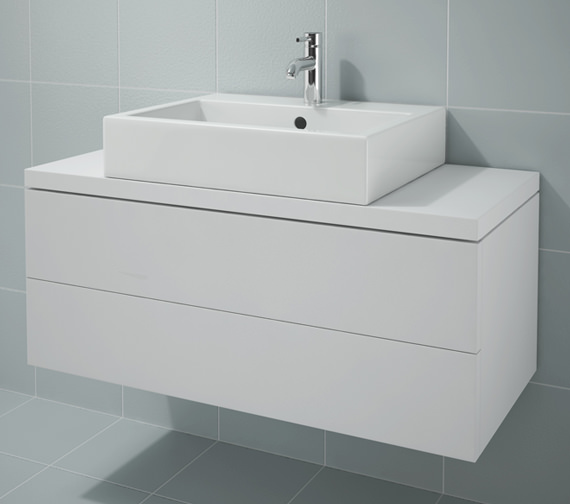 Duravit L Cube 1020x477mm 2 Drawers Unit For Console - LC682301818