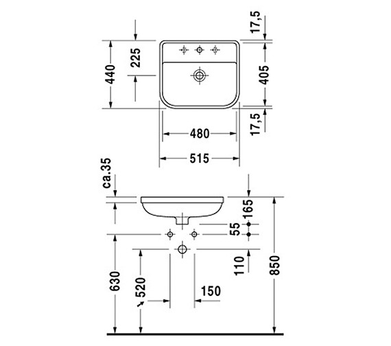Technical drawing QS-D19320 / 0441480000