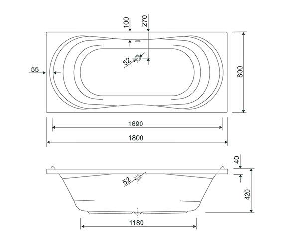 Technical drawing QS-V38454 / 154APOLLO1880