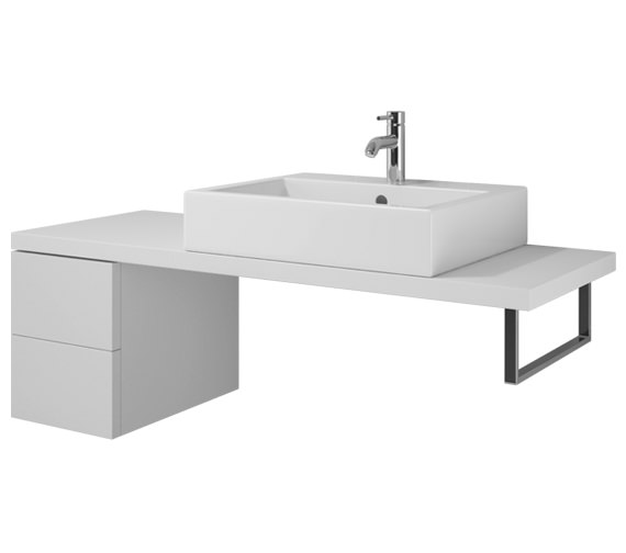 Duravit L Cube 320 x 547mm 2 Drawers Cabinet For Console - LC 6874